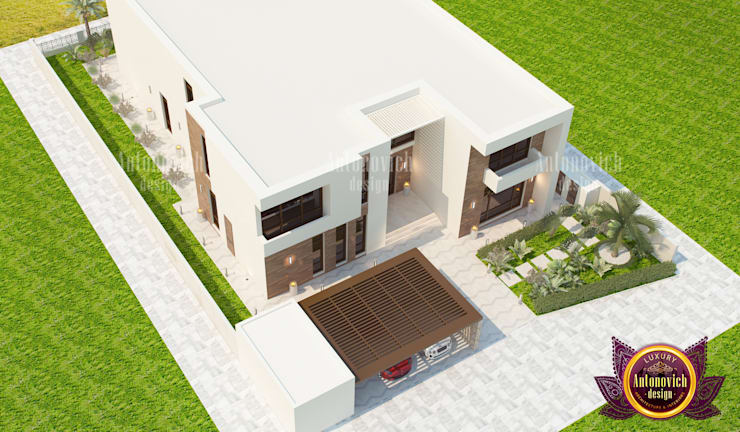 Superb Huge Exterior Plan For a House:   by Luxury Antonovich Design