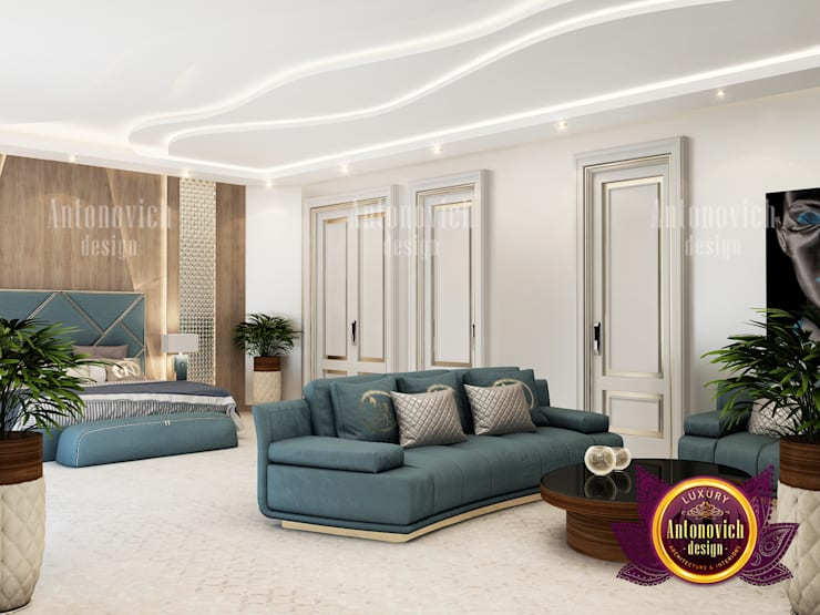 Fine Bedroom for Luxury:   by Luxury Antonovich Design