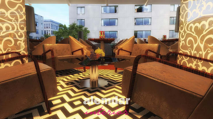 elif alemdar interior – Cafe Restoran :  tarz Yeme & İçme, Modern Ahşap-Plastik Kompozit