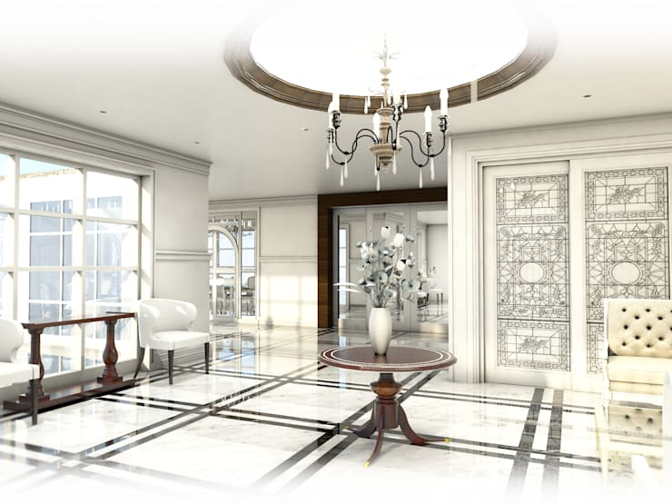 Foyer Area.:  ตกแต่งภายใน by Hip and Classic Design Studio