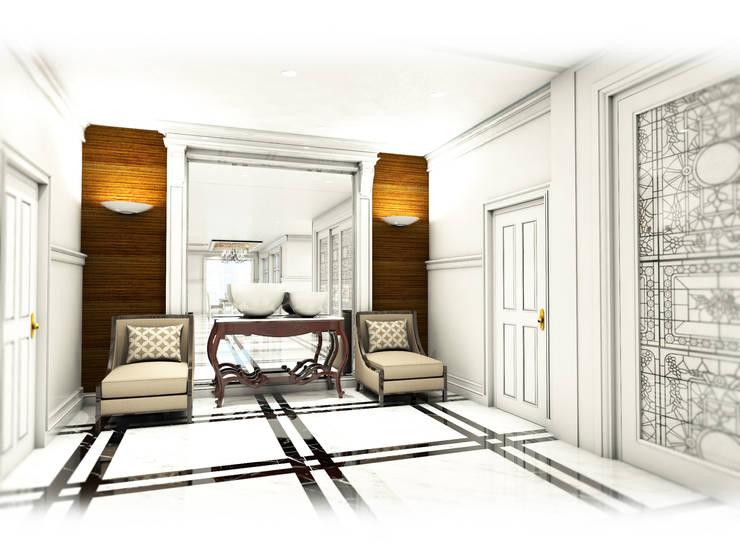 Hallway:  ตกแต่งภายใน by Hip and Classic Design Studio