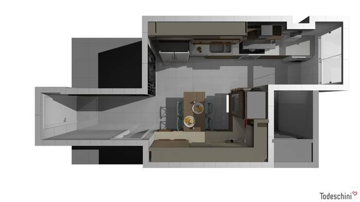 O projeto. Planta baixa. : Armários e bancadas de cozinha  por Ana Adriano Design de Interiores