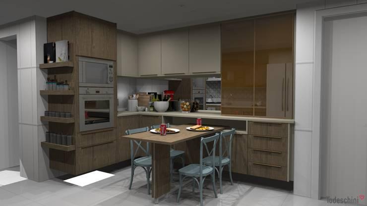 Área de jantar: Armários e bancadas de cozinha  por Ana Adriano Design de Interiores