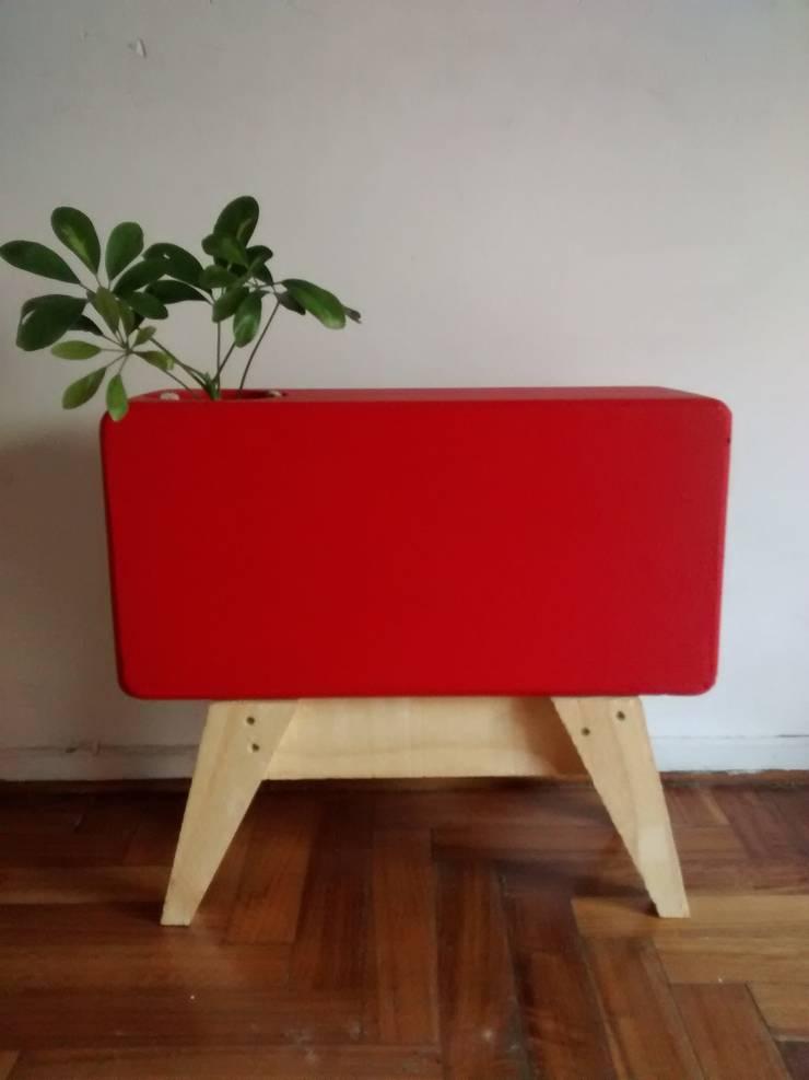 Maceta rectangular minimalista.:  de estilo  por Taller de Diseño Cementicio,Minimalista Concreto reforzado