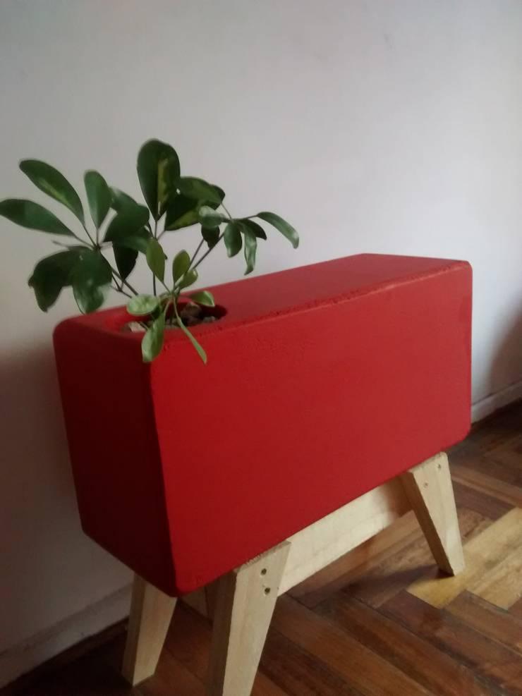 Maceta rectangular minimalista:  de estilo  por Taller de Diseño Cementicio,Minimalista