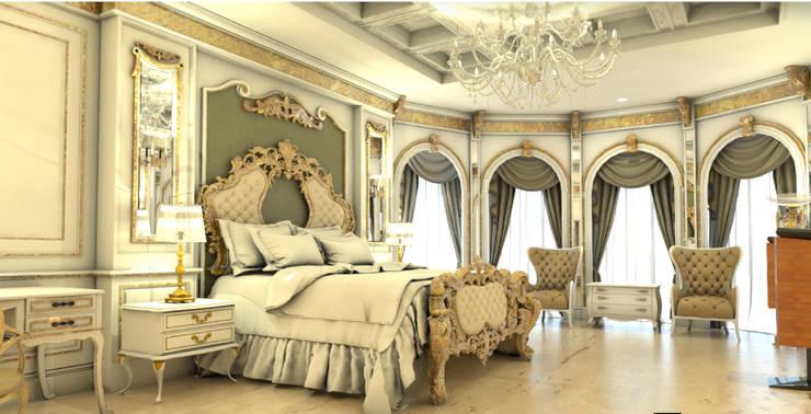 ตกแต่งห้องนอนใหญ่:  ตกแต่งภายใน by Hip and Classic Design Studio
