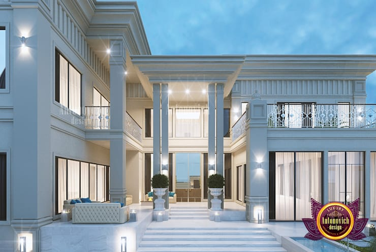 "Supreme Huge Exterior Design: {:asian=>""asian"", :classic=>""classic"", :colonial=>""colonial"", :country=>""country"", :eclectic=>""eclectic"", :industrial=>""industrial"", :mediterranean=>""mediterranean"", :minimalist=>""minimalist"", :modern=>""modern"", :rustic=>""rustic"", :scandinavian=>""scandinavian"", :tropical=>""tropical""}  by Luxury Antonovich Design,"