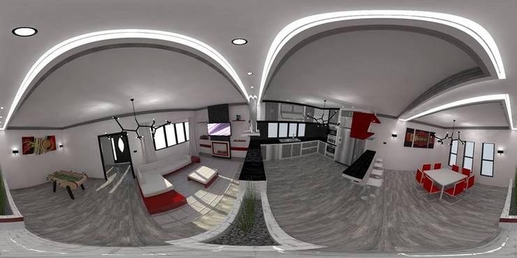 Diseño de interiores :  de estilo  por Arq. William Fernandez
