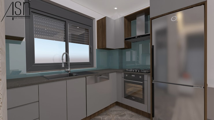 ASN İç Mimarlık  – Mutfak:  tarz Küçük Mutfak