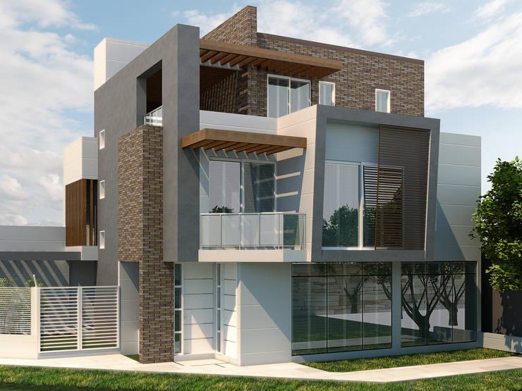 Vivienda Rosablanca: Casas ecológicas de estilo  por Instalaciones Sostenibles SAS