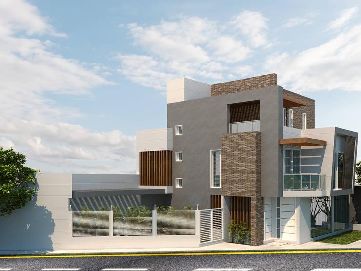 Edificación Rosablanca: Casas ecológicas de estilo  por Instalaciones Sostenibles SAS