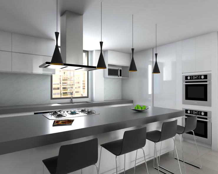 Cocina : Cocinas equipadas de estilo  por Proyectos C&H C.A