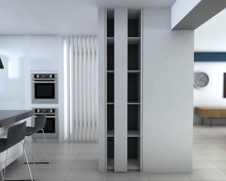 Mueble Vertical : Closets de estilo  por Proyectos C&H C.A