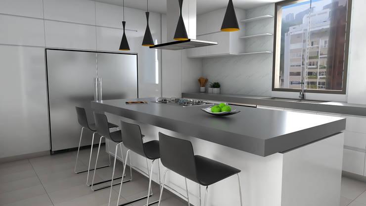 cocina : Cocinas de estilo  por Proyectos C&H C.A