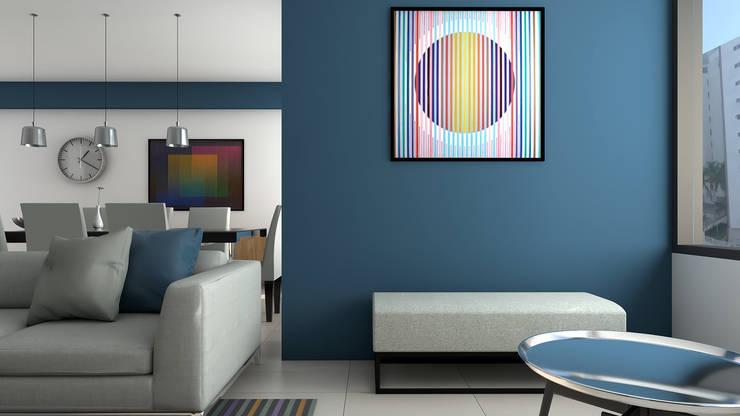 Area de estar: Salas / recibidores de estilo  por Proyectos C&H C.A