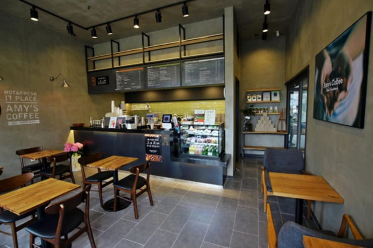 Bars & clubs by 모노웍스, Industrial Tiles