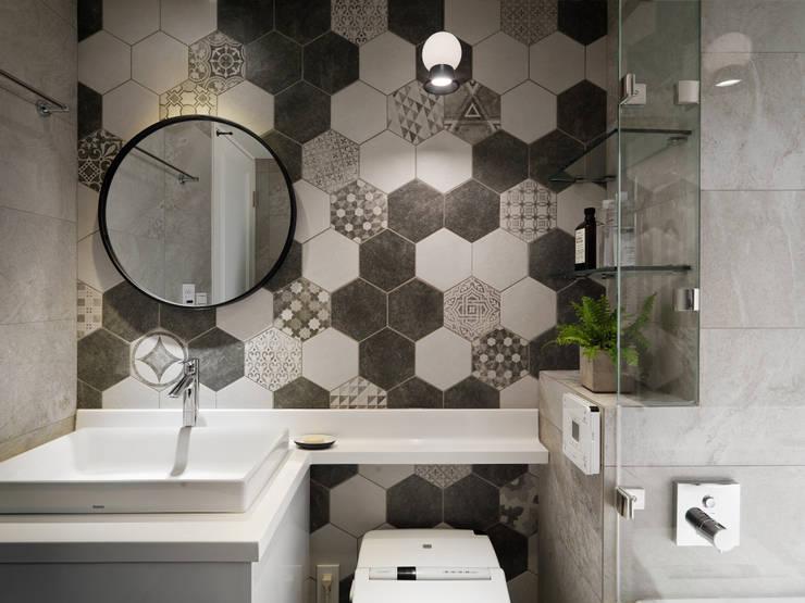 比鄰5之2:  浴室 by 創喜設計