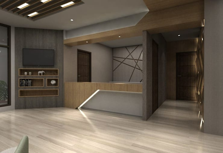 Lobby Guest House Bandung:  Corridor, hallway & stairs by Maxx Details