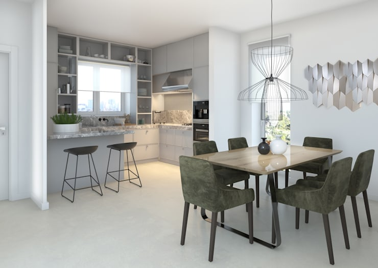 Cucina e Sala da pranzo: Cucina in stile  di Silvana Barbato, StudioAtelier