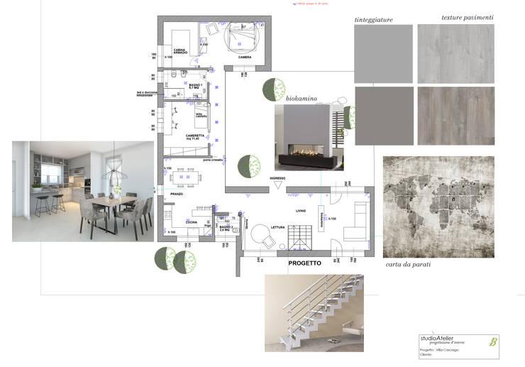 Layout villa: Villa in stile  di Silvana Barbato, StudioAtelier