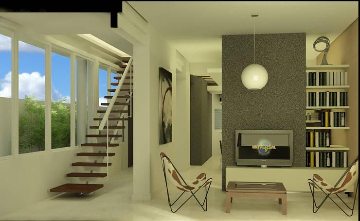 Reciclaje de vivienda antigua: Casas unifamiliares de estilo  por viviendas de autor,