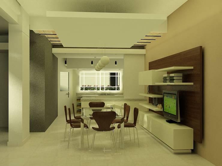 CASA LEVALLE: Cocinas pequeñas de estilo  por viviendas de autor,