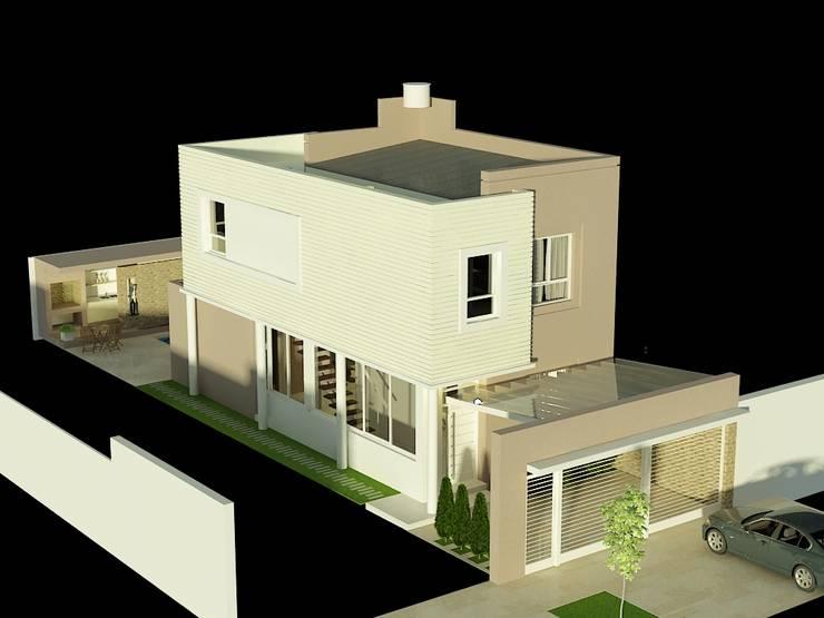 CASA LEVALLE: Casas unifamiliares de estilo  por viviendas de autor,