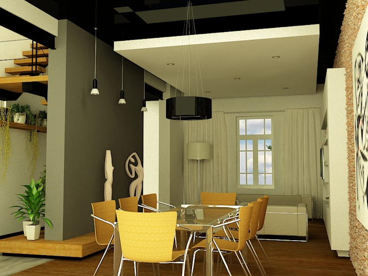 CASA LASERRE - RECICLAJE Y AMPLIACION DE VIVIENDA ANTIGUA: Comedores de estilo  por viviendas de autor,