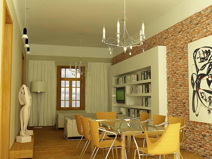 CASA LASERRE – RECICLAJE Y AMPLIACION DE VIVIENDA ANTIGUA: Livings de estilo  por viviendas de autor,