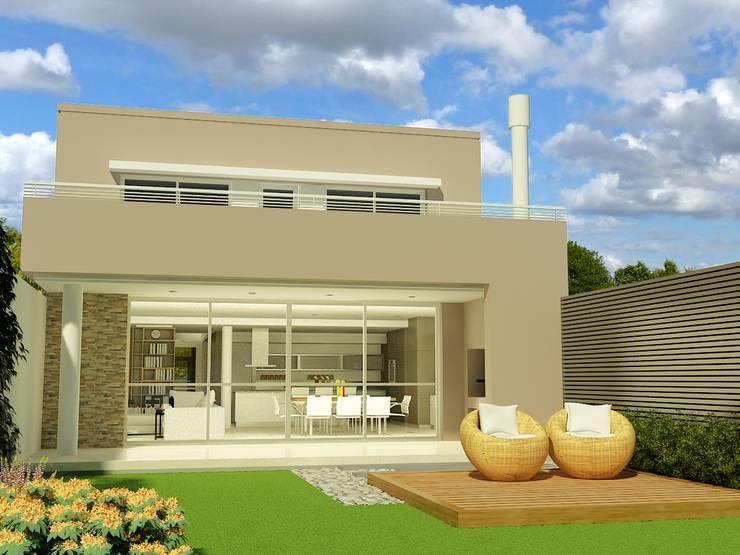 CONTRAFRENTE DIA: Casas prefabricadas de estilo  por viviendas de autor,