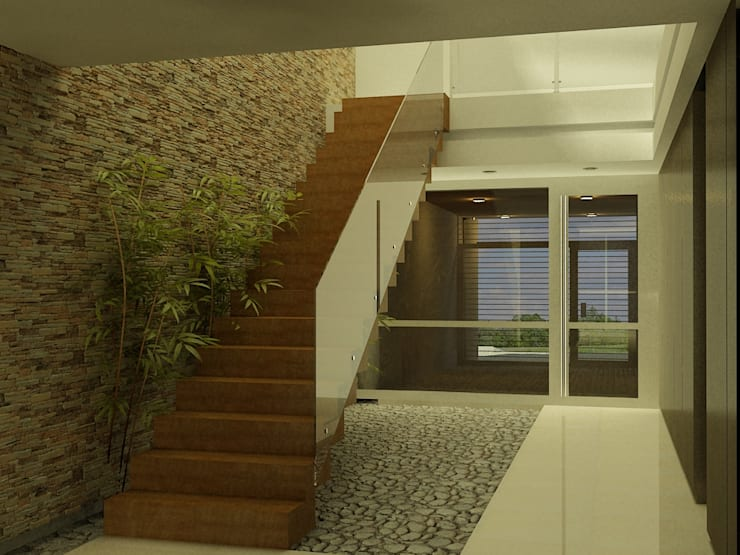 Casa 2 de Mayo: Escaleras de estilo  por viviendas de autor,