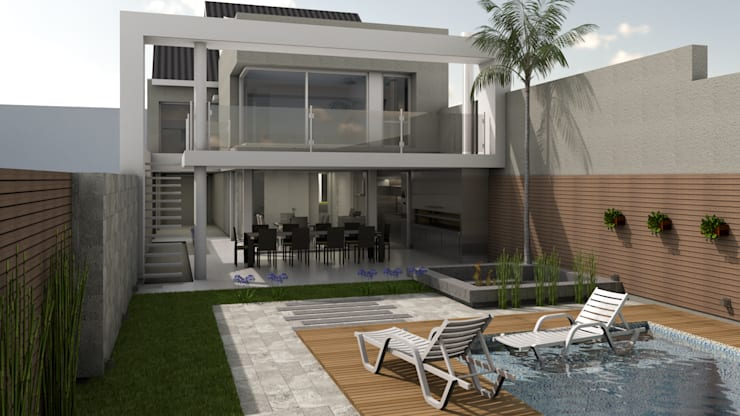 CASA ORLANDINI: Casas unifamiliares de estilo  por viviendas de autor,