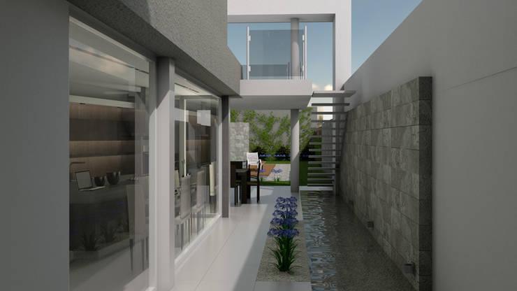 CASA ORLANDINI: Estanques de jardín de estilo  por viviendas de autor,