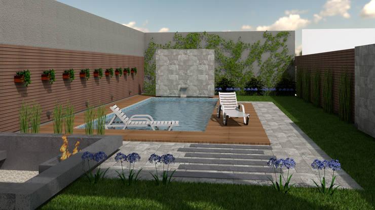 CASA ORLANDINI: Piletas de jardín de estilo  por viviendas de autor,