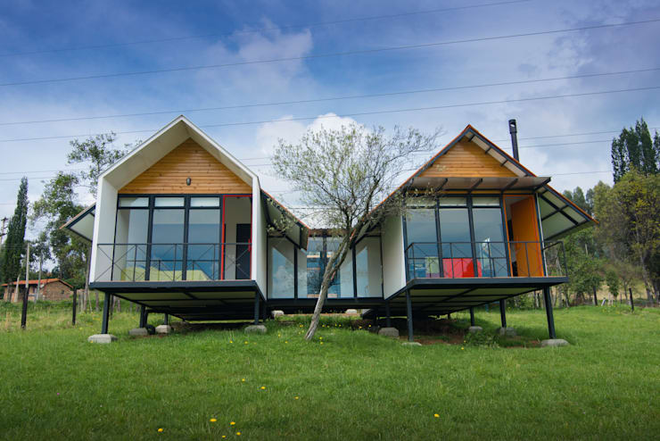 Refugio El Rosal: Casas ecológicas de estilo  por Camacho Estudio de Arquitectura,