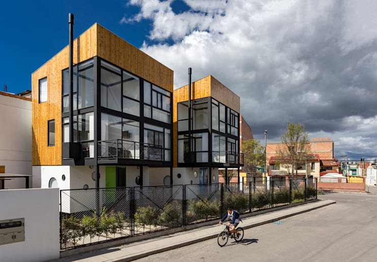Refugio Cubica: Casas unifamiliares de estilo  por Camacho Estudio de Arquitectura