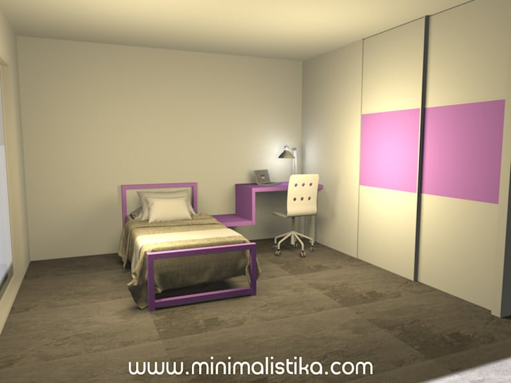 Teen bedroom by Minimalistika.com, Minimalist Chipboard