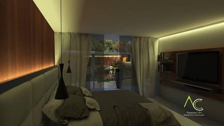 Habitacion Principal: Cuartos de estilo  por Proyectos C&H C.A