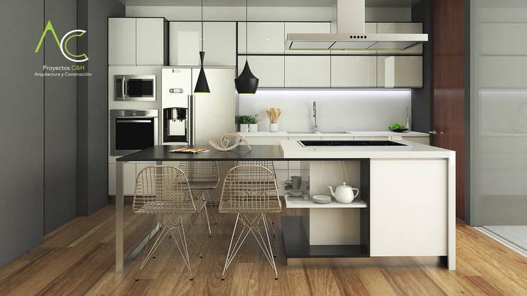 Cocina: Cocinas de estilo  por Proyectos C&H C.A