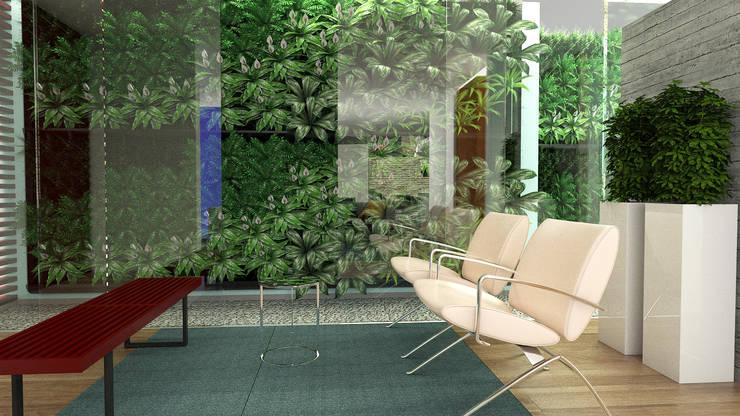 Hall de Acceso: Salas / recibidores de estilo  por Proyectos C&H C.A