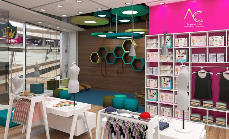 Area de Juegos: Tiendas y espacios comerciales de estilo  por Proyectos C&H C.A