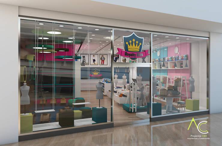 Fachada: Tiendas y espacios comerciales de estilo  por Proyectos C&H C.A