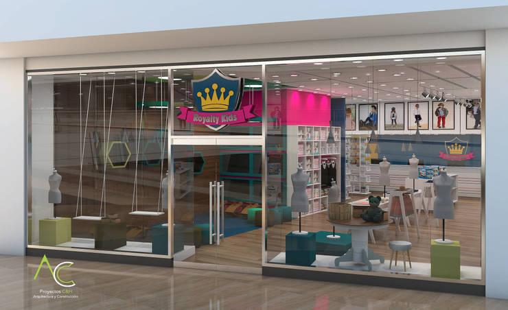 Fachada : Tiendas y espacios comerciales de estilo  por Proyectos C&H C.A