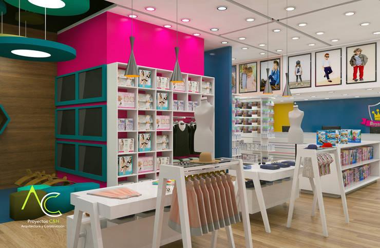 Areas de exhibicion: Tiendas y espacios comerciales de estilo  por Proyectos C&H C.A