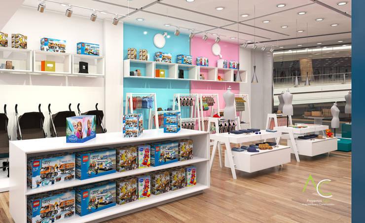 Areas de Exhibicion : Tiendas y espacios comerciales de estilo  por Proyectos C&H C.A