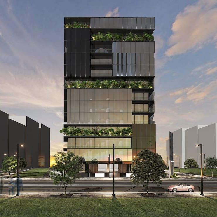 Office buildings by STUDIO PARADIGM