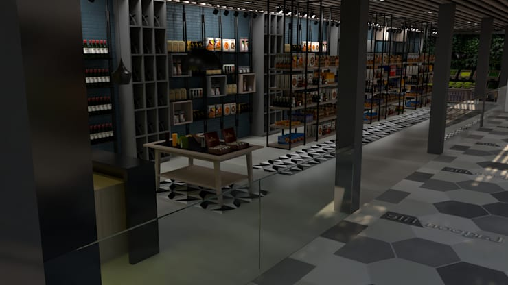 Market: Tiendas y espacios comerciales de estilo  por Proyectos C&H C.A