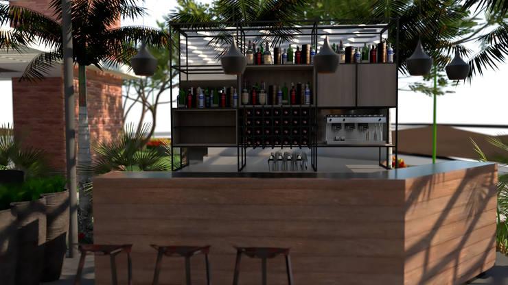 Area del Bar: Tiendas y espacios comerciales de estilo  por Proyectos C&H C.A
