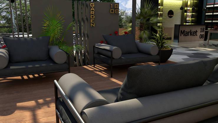 Area Vip: Tiendas y espacios comerciales de estilo  por Proyectos C&H C.A