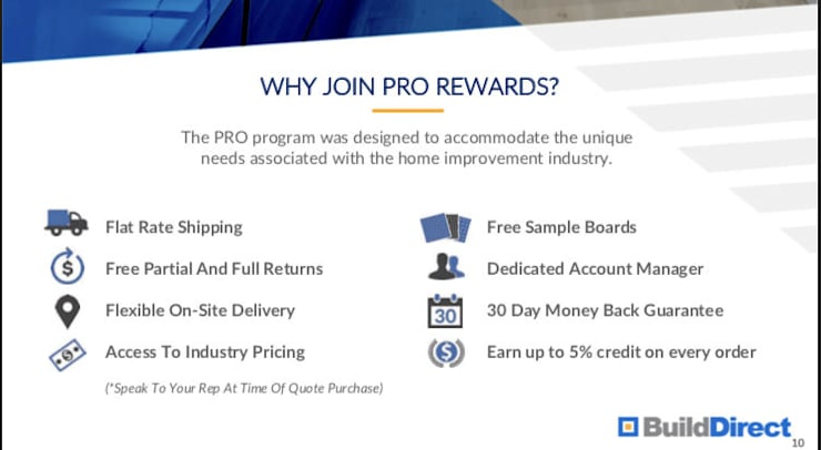 Pro Rewards with BuildDirect :  Floors by BuildDirect
